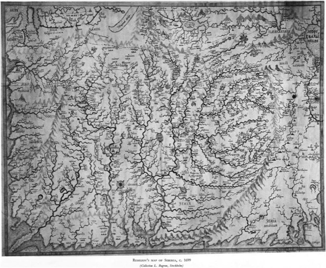 Remezov's map of Siberia, 1699