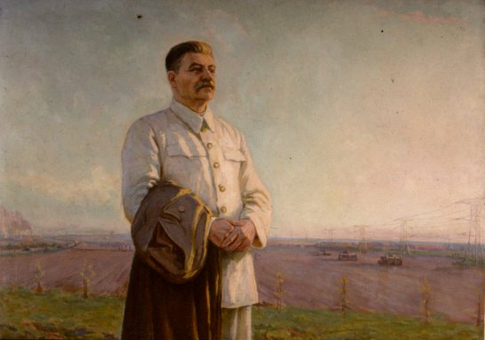 Stalin in field