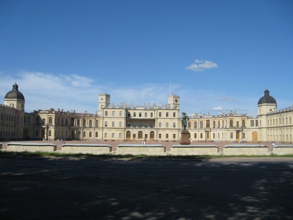 The main palace building at Gatchina