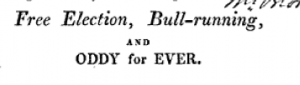 From Narrative of the Proceedings at the Stamford Election, February, 1809 (Stamford, 1809)