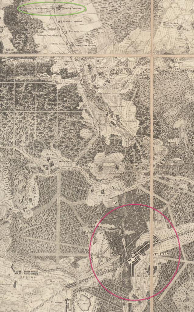 Topograficheskaia karta okruzhnosti Sanktpeterburga. St. Petersburg: Voenno-Topograficheskoe Depo pri Glavnom Shtabe ego Imperatorskogo Velichestva, 1817.