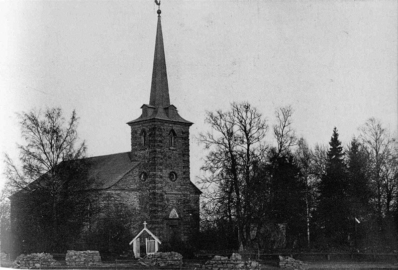 One of the Lutheran churches in Gatchina from a 1911 postcard.