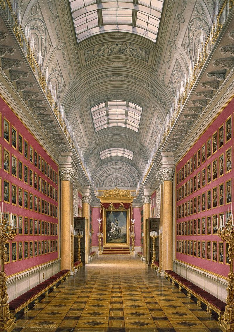 E. P. Gau, Views of the halls of the Winter Palace. The Military Gallery of 1812, 1862.